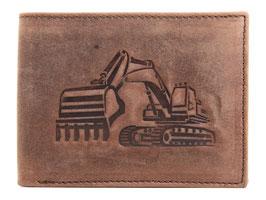 Portemonnaie mit Bagger Prägung