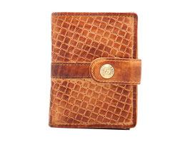 Cardprotector mit Rv-Münzfach und Aussenlasche - Cognac