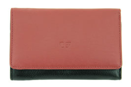 Damenbörse mit Reissverschluss Münzfach Nr.3544 - Farbe Rot-Schwarz