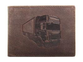 Portemonnaie mit Lastwagen 3 Prägung