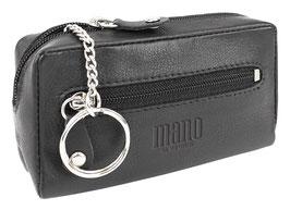 """Mano """"Satura"""" - Schlüsseletui mit einem Schlüsselring - Schwarz"""