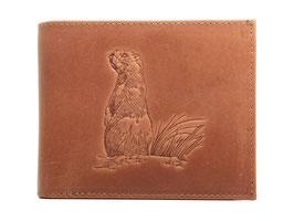 EMME Leder - Portemonnaie mit Murmeltier Prägung