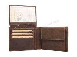 Greenburry RFID Vintage Herrenportemonnaie 1705-RFID-25 Antikbraun