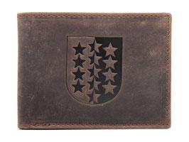 Portemonnaie mit Walliser Wappen Prägung