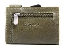SecWal Kreditkartenetui Vintage Grün - Reisverschluss-Münzfach