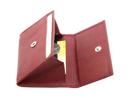 Mini Portemonnaie Nr.1701 - Weinrot