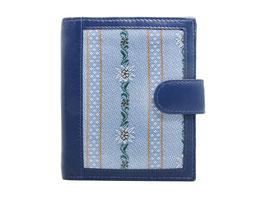 Portemonnaie mit Edelweiss Stoff - Blau