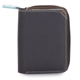 226-128 Small Wallet with Zipround Purse - Mocha