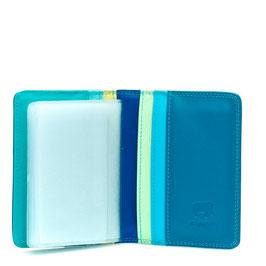 131-92 Credit Card Holder w/Plastic Inserts - Seascape