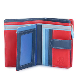 390-127 Medium 10 C/C Wallet w/Zip Purse - Royal