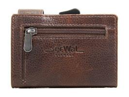 SecWal Kreditkartenetui mit Reisverschluss-Münzfach - Bull