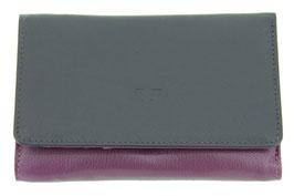 Damenbörse mit Reissverschluss Münzfach Nr.3544 - Farbe Fuchsia-Amethist