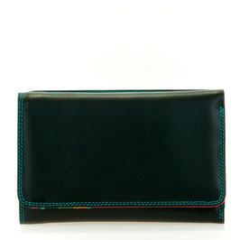 363-4 Medium Tri-fold Wallet w/Outer Zip Purse - Black/Pace
