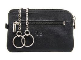 Grosses Schlüsseletui mit Reisverschluss Nr.5110 - Schwarz