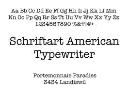Lasergravur Name - Schriftart American Typewriter