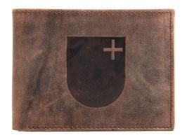Portemonnaie mit Kanton Schwyz Wappen Prägung
