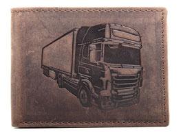 """Portemonnaie mit Lastwagen """"Nr.3"""" Prägung"""