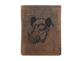 Greenburry Vintage Ledergeldbörse - Wildschwein