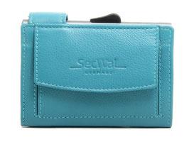 SecWal Kreditkartenetui -Türkis