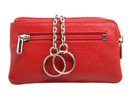 Reisverschluss Schlüsseletui Rot - Nr.5104