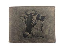Portemonnaie mit Kuhkopf Prägung