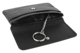 """Mano - """"Medio"""" - RFID Schlüsseletui mit Steckfach - Schwarz"""
