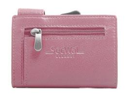 SecWal Kreditkartenetui mit Reisverschluss-Münzfach - Pink