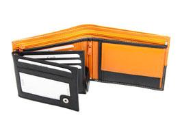 Portemonnaie Nr.3101 - Schwarz / Orange