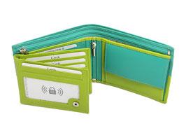 Portemonnaie Nr.3101 RFID - Apfelgrün-Mintgrün