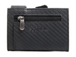 SecWal Kreditkartenetui - Carbon Schwarz