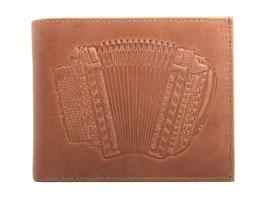 EMME Leder - Portemonnaie mit Schwyzerörgeli Prägung