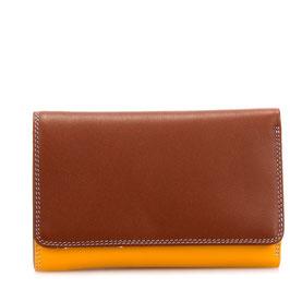 363-121 Medium Tri-fold Wallet w/Outer Zip Purse - Siena