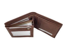 Portemonnaie mit 2 Klappen und Innenriegel - Braun