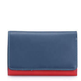 363-127 Medium Tri-fold Wallet w/Outer Zip Purse - Royal