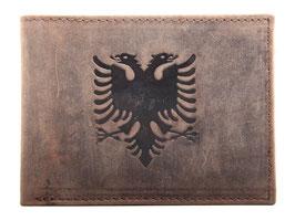 """Portemonnaie """"Albanien"""" mit Doppeladler Prägung"""