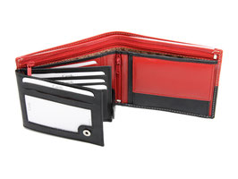 Portemonnaie Nr.3101 RFID - Schwarz / Rot