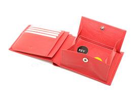 """Portemonnaie """"L"""" mit Wiener Schachtel Münzfach - Nr. 3093 - Rot"""