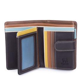 390-128 Medium 10 C/C Wallet w/Zip Purse - Mocha
