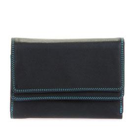 250-4 Double Flap Purse / Wallet - Black/Pace