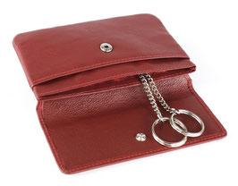 """Mano - """"Medio"""" - RFID Schlüsseletui mit Steckfach - Rot"""