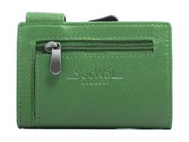 SecWal Kreditkartenetui mit Reisverschluss-Münzfach - Grün