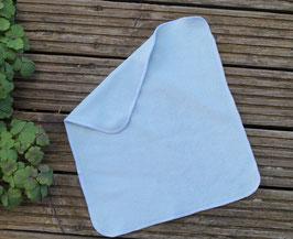 Frottee-Falteinlage aus Bio-Baumwolle / Prefold - Farbe grünblau