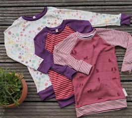 Raglan- Longshirt - Wunschshirt aus Wolle Seide