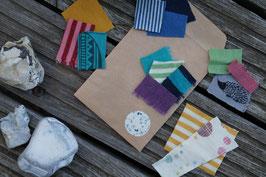 Farbproben Wolle-Seide und Wolle Kleidung