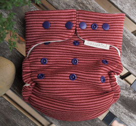 Wollsnap-Überhose TolleWolle Mauve Ringel  (100% Wolle - dehnbar)