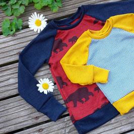 Raglanshirt normale Länge - Wunschshirt aus Wolle-Seide