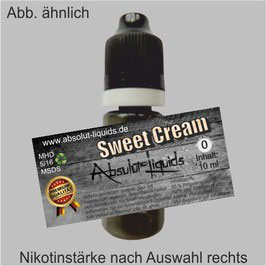 Sweet Cream E-Liquid 10 ml Absolut Liquids