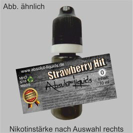 Strawberry Hit E-Liquid 10 ml Absolut Liquids