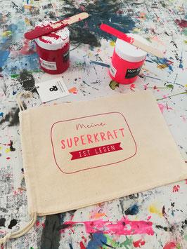 Buchbeutel »SUPERKRAFT« 2-farbig