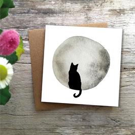 Trauerkarte »Katze«